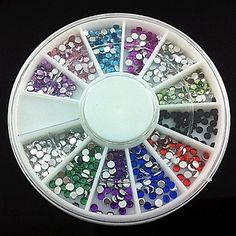 Tint 360PCS 2mm Nail Art Acrylic Rhinestones Nail Art Decoration ** Click image to review more details.
