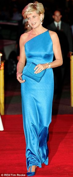 Princess Diana in blue