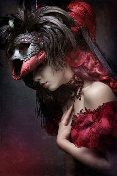 Red and black masquerade dress. Goblin Ball: Ice Kingdom. Saturday 22nd June 2013, Melbourne, Australia.