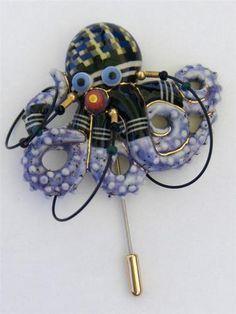 Jewelry 10 Cynthia Chuang Ping Tsai Artisan Cermaic Octopus Brooch Pin OOAK | eBay