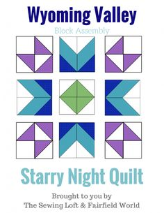 Heather here from The Sewing Loft back for our monthly sit & sew session and final block. The final block of our Starry Night Quilt Sampler. Sampler Quilts, Star Quilts, Easy Quilts, Mini Quilts, Quilt Blocks, Star Blocks, Quilting Projects, Quilting Designs, Sewing Projects