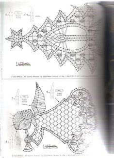 Diypatterntutorialkursy Krok Po Krokurekodzielohandmadezrob To Bobbin Lace Patterns, Crochet Patterns, Crochet Edgings, Loom Patterns, Crochet Motif, Crochet Shawl, Ornament Pattern, Hairpin Lace Crochet, Bobbin Lacemaking