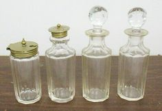 VTG 4 pc Victorian Crystal Glass Tableware Oil Vinegar Mustard or Marmalade Jars Healthy Eating Tips, Healthy Nutrition, Vegetable Drinks, Glass Containers, Marmalade, Food Menu, Vinegar, Jars, Mustard