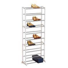 UDEAR 10-Tier Schuhschrank Schuhregal Storage Shoe Shelf for 27 Pairs of Shoes Beige