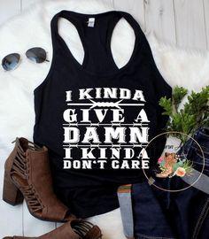 b505ba9ebd187 I Kinda Give A Damn tank   Country music shirt   Country music festival    Country concert   Country Thunder   Small Town Girl   Country girl