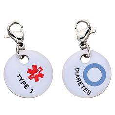 Type 1 Diabetes Medical Alert Bracelet Charm - Large - 63