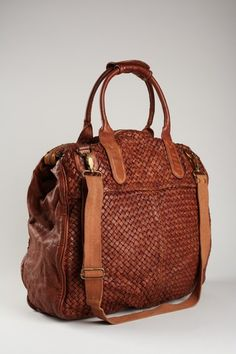 I love these woven leather purses