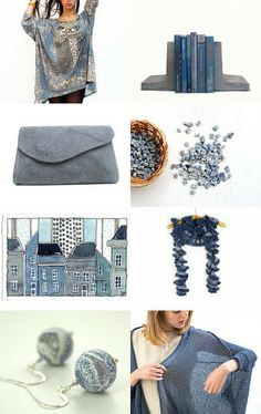 'Just a Moody Day' by Irina Wardas on Etsy-- #grey #dustyblue #fashion #gifts #fineart #decor