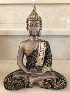 Fabric and resin Buddha, Buddha statue, statuette, 27 cm Buddha Statue Home, Art Buddha, Buddha Decor, Buddha Zen, Gautama Buddha, Buddha Thoughts, Fairy Statues, Buddha Sculpture, Bohemian Decor