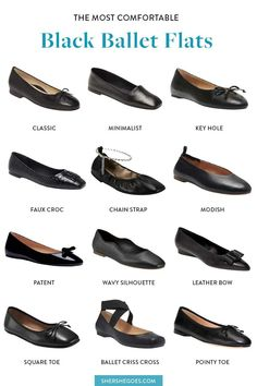 ballet flats will never go out of style. they're chic, they're comfortable and they match anything in your wardrobe. here are the best black ballet flats to shop now #balletflats #balletshoes #flats #classicshoes #womensshoes #amazonfinds Black Ballet Flats, Ballet Shoes, Best Black, Crocs, Going Out, Stylish, Classic, Leather, Shopping