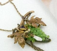 Victorian Grape Amethyst Pearl Necklace Purple by WillowBloom, $95.00