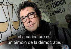 Citation de Tignous, le 4 décembre 2012 lors d'un festival à Berck-sur-Mer (Pas-de-Calais). MAXPPP  #CharlieHebdo #jesuischarlie