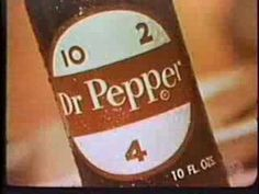 """1960 commercial shows that drinking Dr. Pepper is the """"cool thing to do""""."""