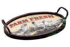 "16"" Tray, Farm Fresh on OneKingsLane.com"