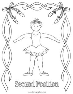Reproducible Ballet Coloring Pages - Master small_Page_02  - second position