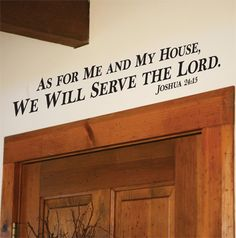As For Me (block letters)... Vinyl Wall Decor with Scripture
