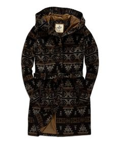 Look at this #zulilyfind! Black Coffee Tribal Hooded Coat by TIMEOUT #zulilyfinds