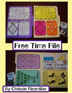 Early Finishers Lapbook: Free Time File AWESOME Idea for Addison who finishes everything speedy fast.