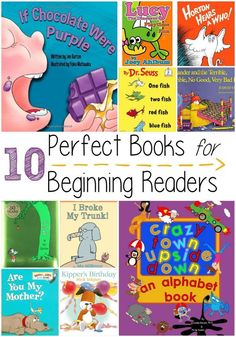 10 Perfect Books for Beginning Readers Moments With Mandi is part of Books for beginning readers - These books for beginning readers make great gifts and will make your little one love to read Best Children Books, Books For Boys, Childrens Books, Toddler Books, Kids Reading, Reading Skills, Kindergarten Reading List, Reading Club, Early Reading