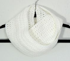 Scarf Crochet Infinity White from Simply Charming at Folksy.com