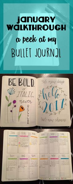 January Walkthrough - A Peek at My Bullet Journal from Everything is Nerdiful
