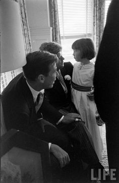 *LOOK MAGAZINE ~ Jack with Jackie's half-sister, Janet Auchincloss, before his wedding day on September 12th, 1953.