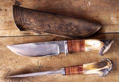 An outstanding traditional hunting knife made in France. Beautiful..
