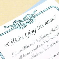 Nautical Save the Date - We're Tying the Knot - Sample
