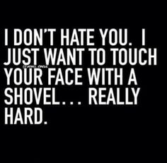 I hate you. Sarcastic Quotes, Me Quotes, Funny Quotes, Funny Memes, Jokes, Rebel Quotes, Sassy Quotes, Funny As Hell, Frases
