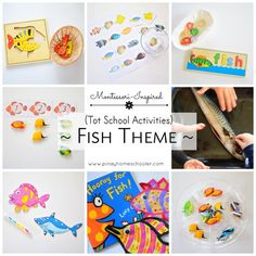 Fish themed activities for toddlers.
