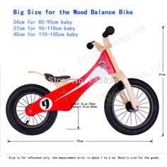 Baby two wheels Wood Balance Bike for 3-6 Years age Bicicleta Infantil Baby'Toys kids birthday gift Wooden Kid's Balance Cycling
