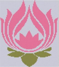 Lotus Flower Cross Stitch Pattern | Craftsy