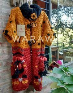 Crochet Wrap Pattern, Crochet Coat, Form Crochet, Crochet Blouse, Crochet Clothes, Fabric Yarn, Crochet Fashion, Pull, Boho Fashion