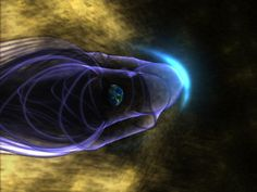 The solar wind streams plasma and particles from the sun out into space. But, what causes this stream, and how does it affect Earth? Learn all about the solar wind here. Islam And Science, Earth's Magnetic Field, Shock Wave, Across The Universe, Waves, Galaxy Space, Space And Astronomy, To Infinity And Beyond, Deep Space
