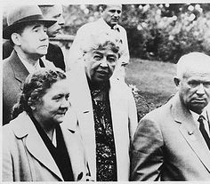 1959- Eleanor Roosevelt and Khrushchev in Hyde Park U.S.A