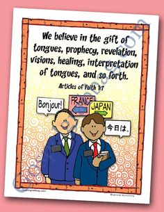 Gifts of the Spirit - Spiritual Gifts - Faith - Prayer: Scripture Poster, Articles of Faith LDS Lesson Activity for: Primary, Youth, and Family Home Evening - Gospel Grab Bag
