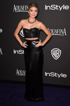Sarah Hyland in Emilio Pucci attends InStyle and Warner Bros.Post Party Golden Globes Party. #bestdressed