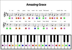 It is very important to take piano lessons in order to play the piano. You have to learn to read piano music if you plan to be a serious piano player. If you try to look into history, you will notice that most of the great piano p Piano Songs For Beginners, Piano Lessons For Kids, Easy Piano Songs, Easy Piano Sheet Music, Piano Music, Amazing Grace Sheet Music, Learn Piano Beginner, Music Sheets, Piano Keys