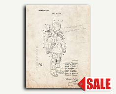 Patent Print - Space Suit Patent Wall Art Poster