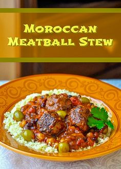 This is a real feast for the senses; not only incredible flavour, but the heavenly scent of this cooking is worth the effort alone. Rock Recipes, Crockpot Recipes, Cooking Recipes, Healthy Recipes, Cooking Beef, Healthy Food, Meatball Stew, Meatball Recipes, Couscous