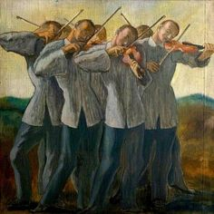 The Violinists. Richard Gerstl (Austrian, Oil on hessian. New Walk Museum & Art Gallery. Gerstl was a painter and draughtsman known for his expressive psychologically insightful portraits, his lack of critical acclaim during his lifetime,. Museum Art Gallery, Art Uk, Art Music, Figurative Art, Oeuvre D'art, Art Sketches, Painting & Drawing, Book Art, Modern Art