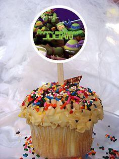 World of Pinatas - Teenage Mutant Ninja Turtles Personalized Cupcake Toppers Set of 6, $5.99 (http://www.worldofpinatas.com/teenage-mutant-ninja-turtles-personalized-cupcake-toppers-set-of-6/)