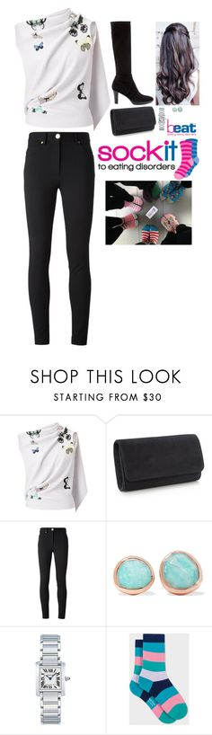 """(Read) Visiting Beat to celebrate the 'Sock It' Campaign during their Eating Disorders Awareness Week"" by fashion-royalty ❤ liked on Polyvore featuring Roland Mouret, Moschino, Monica Vinader, Cartier, Paul Smith, Aquatalia by Marvin K. and SockItSelfie"
