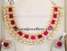 Rubies and pearls choker