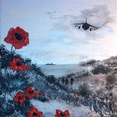 """Jacqueline Hurley """"Calm Before The Storm"""" War Poppy Collection No.7 https://www.facebook.com/pages/Port-Out-Starboard-Home-POSH-Original-Art/831105476921131"""