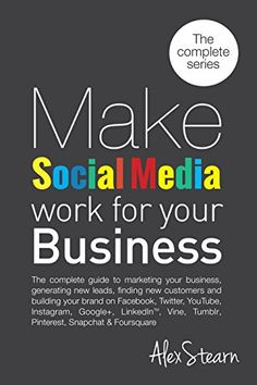 Make Social Media Work For Your Business: The 8 Book Seri... http://www.amazon.com/dp/B00OBS07GO/ref=cm_sw_r_pi_dp_teRixb1PXZE5R-THE COMPLETE 8 BOOK SERIES IN ONE BOOK  The complete guide to Social Media Marketing for your business includes how to generate leads, find new customers and build your brand on all the major social media platforms including: Facebook, Twitter, LinkedIn, Pinterest, Instagram, Tumblr, Google+, YouTube, Periscope, Foursquare, Vine and Snapchat.