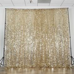 x Champagne Big Payette Sequin Backdrop Curtain Glitter Backdrop, Sequin Backdrop, Diy Backdrop, White Backdrop, Prom Backdrops, Backdrops For Parties, Backdrops For Weddings, Sequin Curtains, Panel Curtains