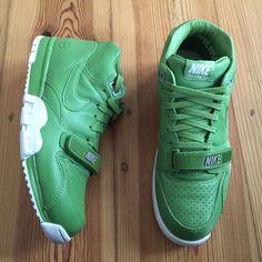 Nike Air Trainer 1 Mid SP Fragment Sz 9.5 Chlorophyll Green White 806942  331  f9eccaec9e047