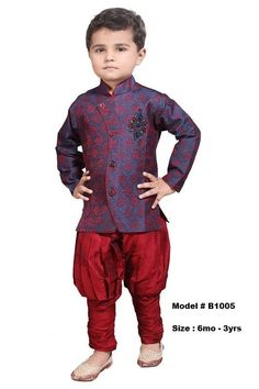 Kids Boys Ethnic Indian Pakistani Sherwani by VarshiniCollections Baby Boy Dress, Toddler Dress, Shadi Dresses, Indian Dresses, Kids Kurta, Kids Indian Wear, Ethnic Wear Designer, Boys Wear, Pajama Shirt