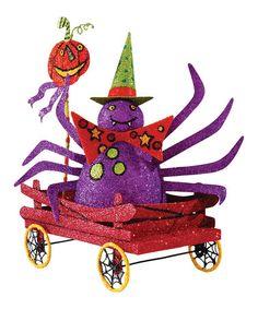 Look what I found on #zulily! Purple Spider Wagon Figurine #zulilyfinds